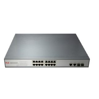 High Power Managed PoE Switch with 16x Ethernet Ports and 2x Gigabit Combo Ports