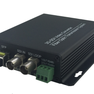 one channel 3G SDI video fiber converter with loopout