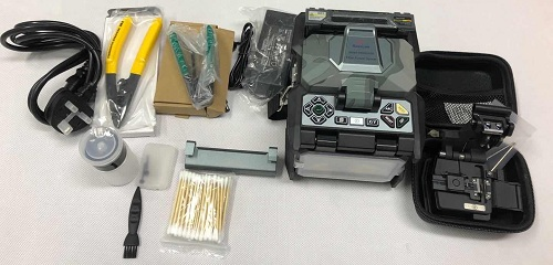 What is the main composition of the optical fiber fusion splicer?